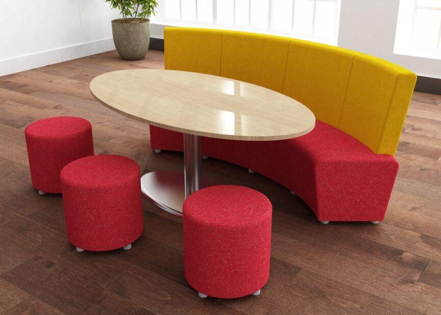 Kurve - Rhubarb Seating